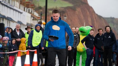 Sid Valley Rotary Club's pancake races Ref shs 08 20TI 8812 Picture: Terry Ife