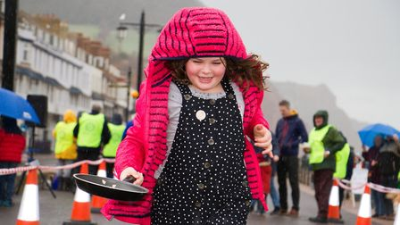 Sid Valley Rotary Club's pancake races Ref shs 08 20TI 8804 Picture: Terry Ife