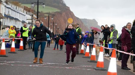 Sid Valley Rotary Club's pancake races Ref shs 08 20TI 8802 Picture: Terry Ife