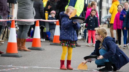 Sid Valley Rotary Club's pancake races Ref shs 08 20TI 8777 Picture: Terry Ife