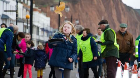Sid Valley Rotary Club's pancake races Ref shs 08 20TI 8782 Picture: Terry Ife