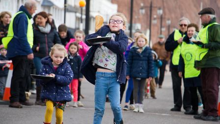Sid Valley Rotary Club's pancake races Ref shs 08 20TI 8774 Picture: Terry Ife