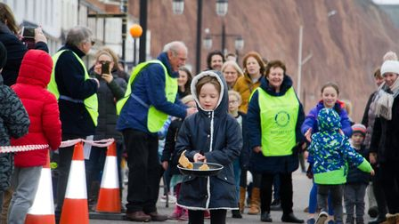 Sid Valley Rotary Club's pancake races Ref shs 08 20TI 8767 Picture: Terry Ife