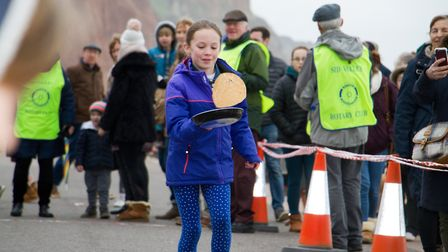Sid Valley Rotary Club's pancake races Ref shs 08 20TI 8771 Picture: Terry Ife