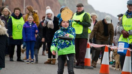 Sid Valley Rotary Club's pancake races Ref shs 08 20TI 8764 Picture: Terry Ife