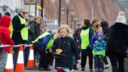 Sid Valley Rotary Club's pancake races Ref shs 08 20TI 8758 Picture: Terry Ife
