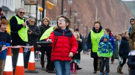 Sid Valley Rotary Club's pancake races Ref shs 08 20TI 8755 Picture: Terry Ife