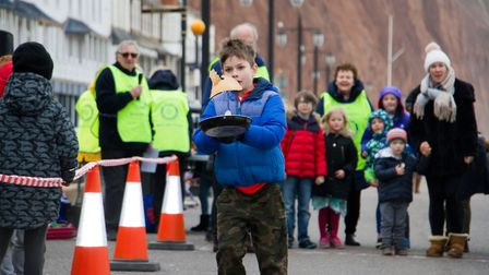 Sid Valley Rotary Club's pancake races Ref shs 08 20TI 8750 Picture: Terry Ife