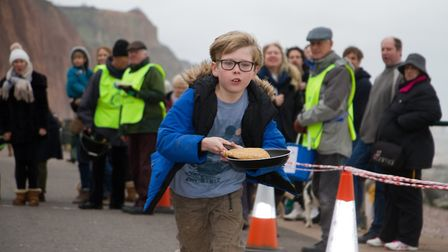 Sid Valley Rotary Club's pancake races Ref shs 08 20TI 8751 Picture: Terry Ife