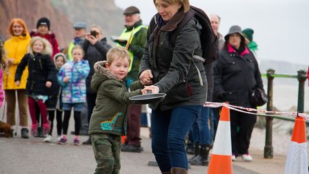 Sid Valley Rotary Club's pancake races Ref shs 08 20TI 8747 Picture: Terry Ife