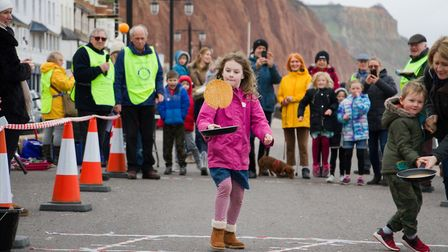 Sid Valley Rotary Club's pancake races Ref shs 08 20TI 8744 Picture: Terry Ife