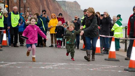 Sid Valley Rotary Club's pancake races Ref shs 08 20TI 8742 Picture: Terry Ife