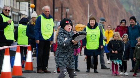 Sid Valley Rotary Club's pancake races Ref shs 08 20TI 8722 Picture: Terry Ife