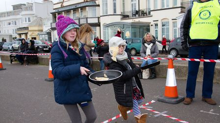 Sid Valley Rotary Club's pancake races Ref shs 08 20TI 8720 Picture: Terry Ife
