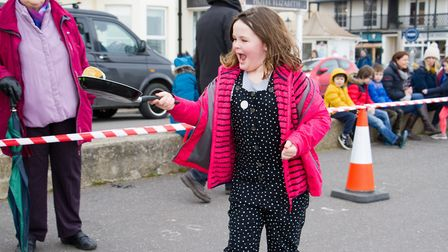 Sid Valley Rotary Club's pancake races Ref shs 08 20TI 8717 Picture: Terry Ife