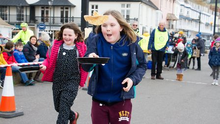 Sid Valley Rotary Club's pancake races Ref shs 08 20TI 8714 Picture: Terry Ife