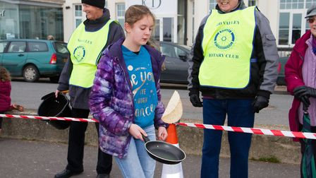 Sid Valley Rotary Club's pancake races Ref shs 08 20TI 8707 Picture: Terry Ife