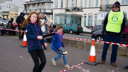 Sid Valley Rotary Club's pancake races Ref shs 08 20TI 8710 Picture: Terry Ife