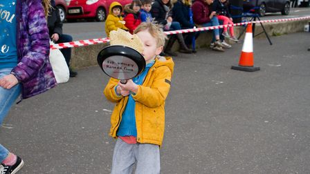 Sid Valley Rotary Club's pancake races Ref shs 08 20TI 8704 Picture: Terry Ife