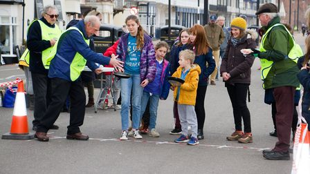 Sid Valley Rotary Club's pancake races Ref shs 08 20TI 8703 Picture: Terry Ife