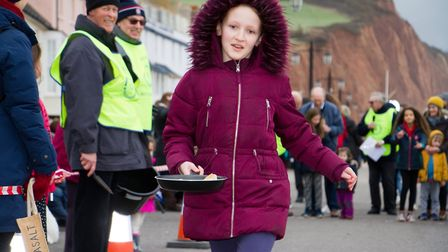 Sid Valley Rotary Club's pancake races Ref shs 08 20TI 8694 Picture: Terry Ife
