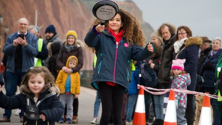 Sid Valley Rotary Club's pancake races Ref shs 08 20TI 8697 Picture: Terry Ife