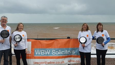WBW Solicitors at the pancake race. Picture: WBW