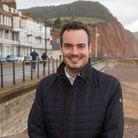 Simon Jupp, MP, during a visit to Sidmouth last year. Ref shs 46 19TI 4243. Picture: Terry Ife