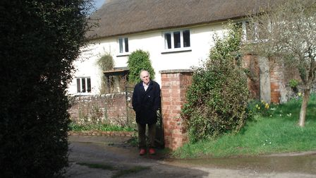 Lawrence Forrester outside his parents' 1939 honeymoon guest house. Picture: Supplied by Lawrence Fo