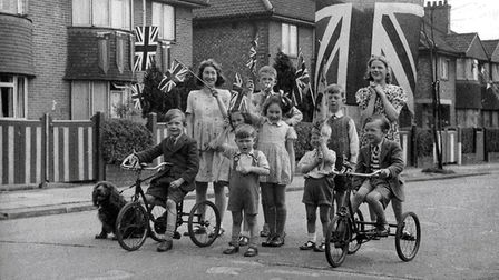 VE Day street party 1945 - East Acton