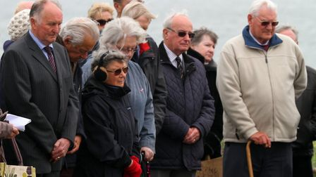 A service to mark the 70th anniversary of VE day was held at Budleigh war memorial. Ref exb 5962-19-