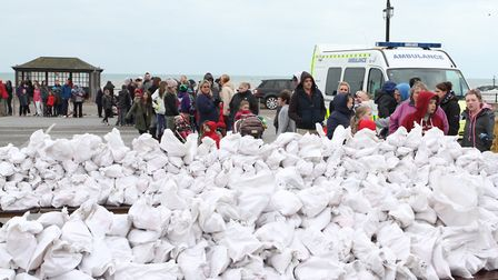 The annual Sidmouth hot cross bun giveaway. Picture: Simon Horn