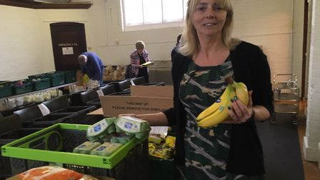 Andie Milne, coordinator of the Sid Valley Foodbank. Picture: Philippa Davies