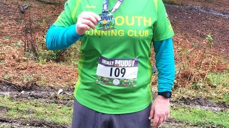Sidmouth Running Club member Derek Blackburn after completing tghe Totally Muddy 10. Picture SRC