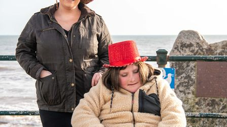 Charlie and Charlotte on Sidmouth seafront. Picture:Kyle Baker