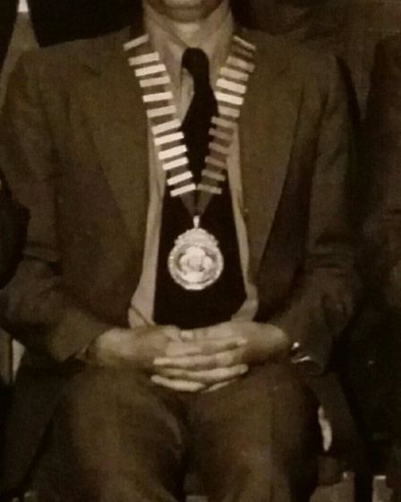 Graham Hembury when he was chairman of Ottery St Mary Town Council. Picture: The Hembury Family