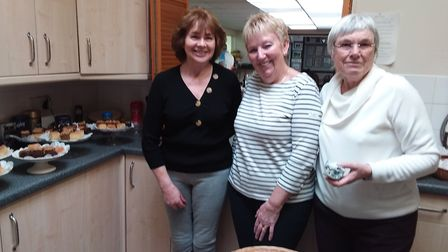 The trio of catering stars, Janice,Sandra and Paddy, who served up a splendid luncheon for the Susse