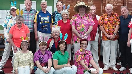 The Sussex bowlers in 'tour dress code' on their visit to Sidmouth. Picture: SIDMOUTH BOWLS CLUB