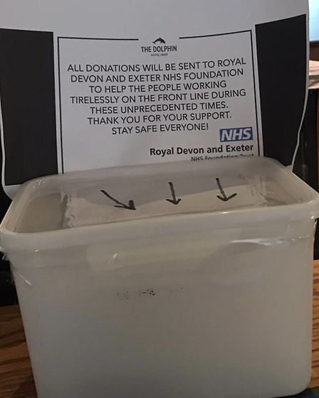 The Dolphin Hotel gave away free booze in return for leaving a donation for the NHS. Picture: The D