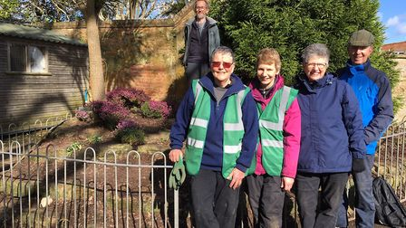 Sidmouth In Bloom volunteers, the Sidplanters Picture: Lynette Talbot