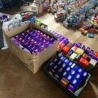 The chocolate donations given the Sid Valley Food Bank. Picture: Sidmouth Primary School