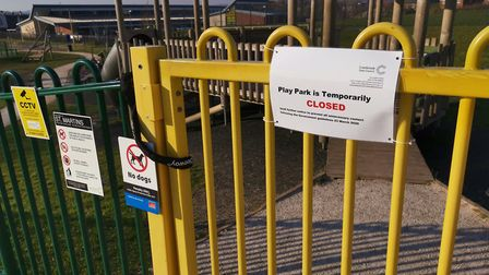 Cranbrook play parks have been closed following the coronavirus outbreak. Picture: Beth Sharp