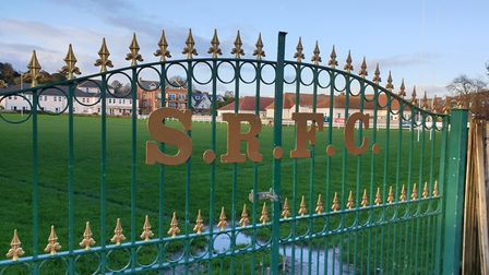 No play for the foresseable future. The shut gates at the Blackmore home of Sidmouth RFC. Picture TE
