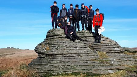 Students on Dartmoor during Ten Tors training Picture: Sidmouth College