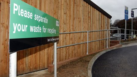 Sidmouth recycling centre. Photo by Terry Ife ref shs 8931-48-13TI