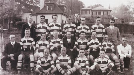 The Sidmouth Thursday rugby team. Picture; TERRY O'BRIEN