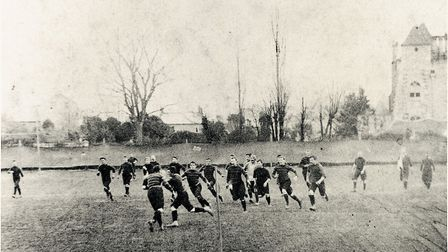 A match on the Blackmore in the 1890s. Picture; TERRY O'BRIEN