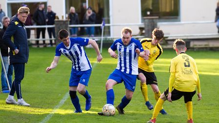 Ottery at home to Buckland Athletic. Ref shsp 06 20TI 7528. Picture: Terry Ife