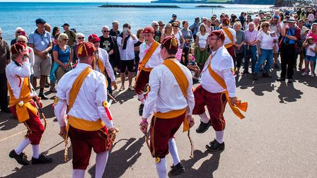 A dance display on the sea front. Picture: Sidmouth Folk Festival