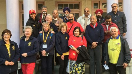 Alison Marchant (front row, centre) with UK and Indian Rotarians. Picture: Rotary International